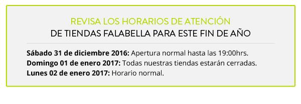 Revisa los horarios de atención de Tiendas Falabella para este fin de año