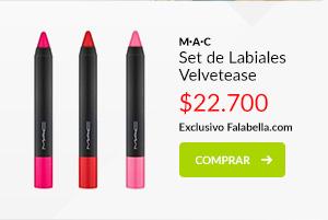 MAC Set de Labiales Velvetease