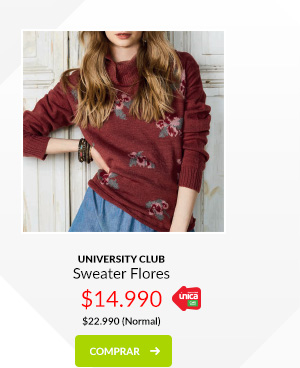 University Club sweater flores