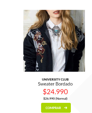 University Club sweater bordado