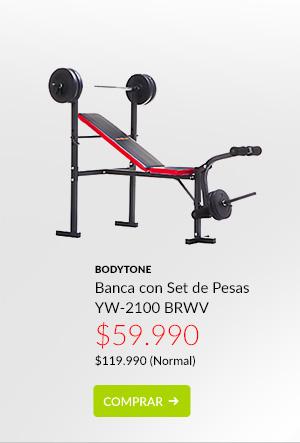 Bodytone banca con set de pesas